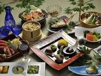 夕食例 季節の素材や地元の素材を取り入れた会席料理