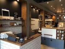 レセプション&1階コーヒーショップ