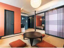お部屋はひろびろ和モダンスタイル。