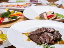 *お夕食一例/旬の恵みをたっぷりと味わえるイタリア料理をご賞味下さい。