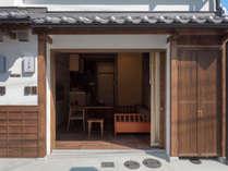 京都の趣ある町家(町屋)一棟貸しの古民家宿。高瀬川そばの静かでリラックスできる立地。
