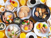 ◆バイキング◆朝食は和洋の定番を揃えております!※プレート食でのご提供になる場合もございます