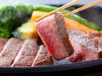 【充実の高岳膳】世界一の阿蘇カルデラ育ちのあか牛『阿蘇王牛ステーキ』ジューシーなお肉は味わい深い♪