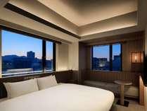 コーナーキングダブル【広さ20平米、幅200cmキングベッド、◆角部屋◆】