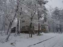 雪の日の白馬
