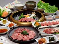 冬季限定!!厳選したお肉を♪ほほえみぷらん焼肉コース【温泉無料♪】