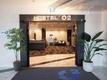 入り口 パーキングエリア海側11階にございます。