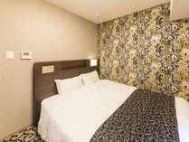 【ダブルルーム】全室シモンズ製ベッドを使用!ベッド幅も155cmゆったりサイズ♪
