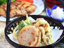 【夕食】自家製野菜の天ぷら