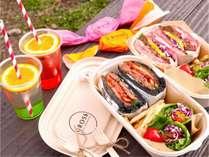 【嵐山でピクニック♪】バーガーレストラン「CROSS」のピクニックボックス付き