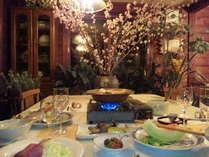 ある日のディナー和洋折衷(春の香り)