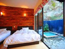 全室露天風呂と内風呂完備(別府八湯の一つ亀川温泉の湯)時間を気にせず、のんびりと……