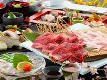 当館王道の雅会席、大分の食材をふんだんに使った料理長のこだわり会席