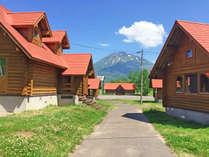 *建物外観/【夏季期間のみ営業】赤い屋根のかわいいカントリー風ログハウス!