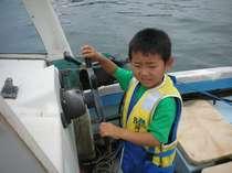 漁船を操る操船体験