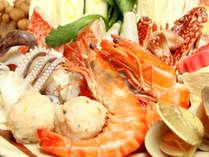 【夕食】鍋コースの一例冬はあったかお鍋をお楽しみください♪