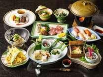 新企画 ご夕食は料理長自慢の会席料理にてご用意致します。平日限定。