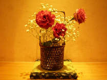 *館内一例:季節のお花を飾っております