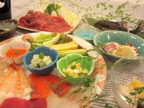 【手巻き寿司(一例)】人気プラン♪夏休み限定です。ご家族で旅の思い出にいかがですか?