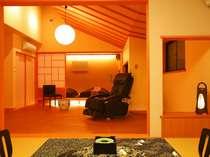 全室2間続き和室♪お部屋趣色々。806号例;光庭のリビングの3間続き。2家族様もOK