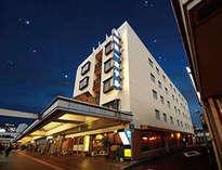延岡第一ホテルの外観(夜)