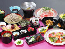 *[夕食一例]しゃぶしゃぶ+日本そばを存分にお召し上がりください。