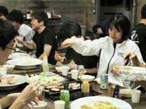 *【夕食一例/BBQ】手ぶらでラクラク!家族や仲間とワイワイ楽しめます。
