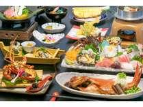 【伊勢海老・アワビ・金目鯛・サザエ】伊豆の海の幸 贅沢三昧プランのイメージです。