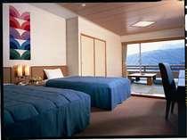 「和洋室タイプ」窓からは明るい日差しが差し込み太平洋が一望できます