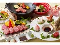 厳選された和牛を陶板焼きにて存分に味わう御膳料理※写真はイメージ