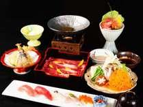 *【夕食】季節ごとに変わるグレードアップ会席も人気です