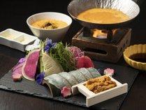 *【鯛雲丹しゃぶ会席】雲丹出汁雑炊ランプフィッシュ添え<4~6月>