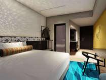 スーペリアダブル22.8㎡客室は大阪を南北に縦断するメインストリート御堂筋側の眺望です