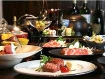 【ご夕食一例】四季折々の旬の厳選食材を味わう~※旬の食材の仕入れ状況により内容が変わります。