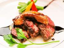 【焼物】村上牛ステーキ※ご夕食一例