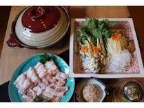 豚肉、鶏肉、つくね、お野菜、京野菜とカリカリじゃこのお豆腐サラダ、お雑炊 3800円