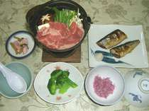 湯治&ビジネスプラン 夕食(見本)
