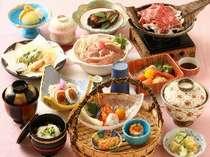季節の地物が豊富なお料理(一例)一品一品上品な造りで女性からの人気が高いです!
