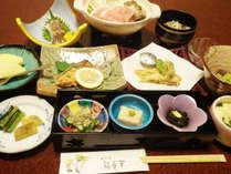 【夕食一例】信州の旬の幸をふんだんに活かした料理はどれも絶品です!