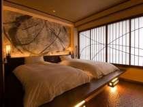 竹炭マイナスイオンベットでゆったりとお休みいただけます(特別室)