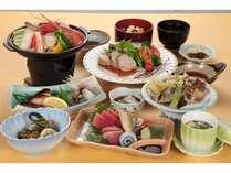 夕食は一番人気の「榛名」コース☆地産地消の和食会席!~朝食はバイキングor個出しです♪~