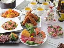家族でワイワイ♪手巻寿司プラン、デザートはアイスクリームタワーでお楽しみください