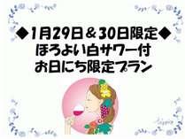 【◆1月29日・30日限定◆】ほろよい白サワー付お日にち限定プラン~東京駅日本橋口より徒歩7分~