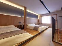・【2階ベッドルーム】シンプルで和モダンな寝室が一日の疲れを癒す