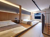 ・【2階ベッドルーム】天然オーガニックリネンが心地よい