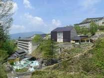 万座温泉でも類のない広さを持つ「石庭露天風呂」が人気のお風呂自慢の宿。