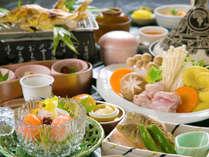 【スタンダード会席】~季節の会席orなべ会席~地産の食材を使った、通常の会席
