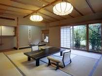 貴賓室「弓ヶ浜」。囲碁名人戦の対局室ともなる。