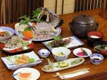 ある日のご夕食イメージ魚介は北海道(小樽漁港)新潟(岩船漁港)から直送