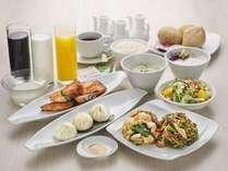 中華バイキング朝食  盛り付け例
